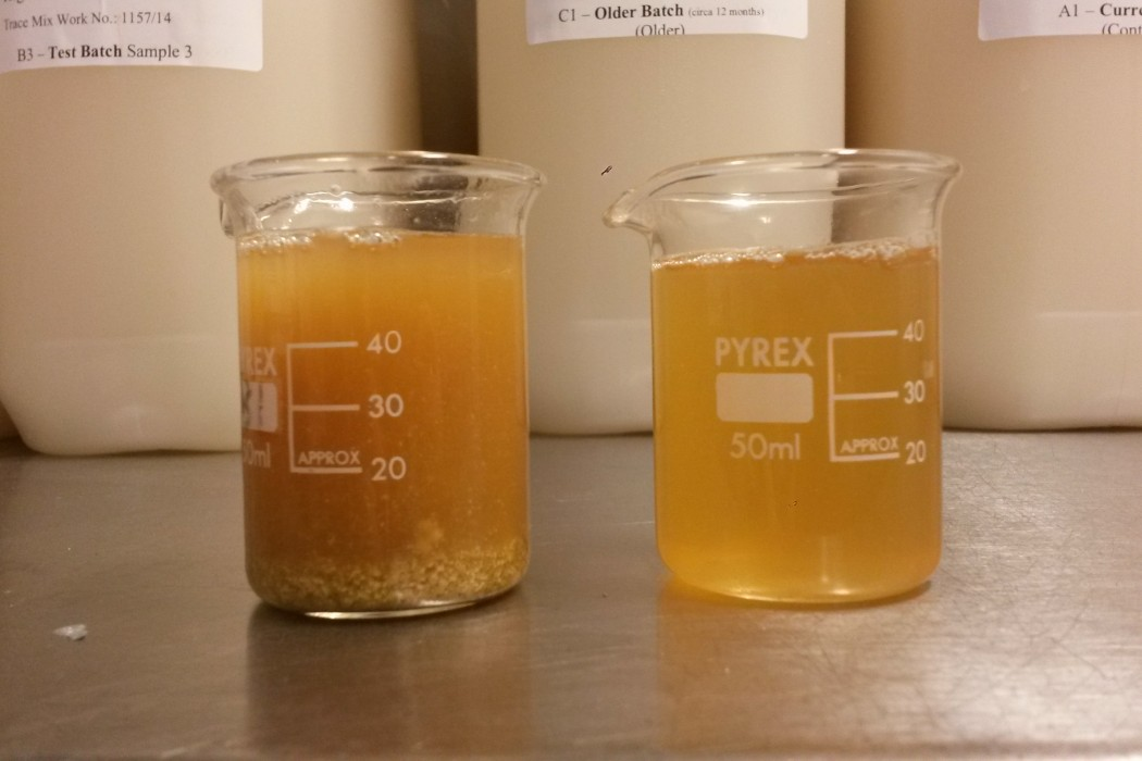 Gravity samples on trub beers