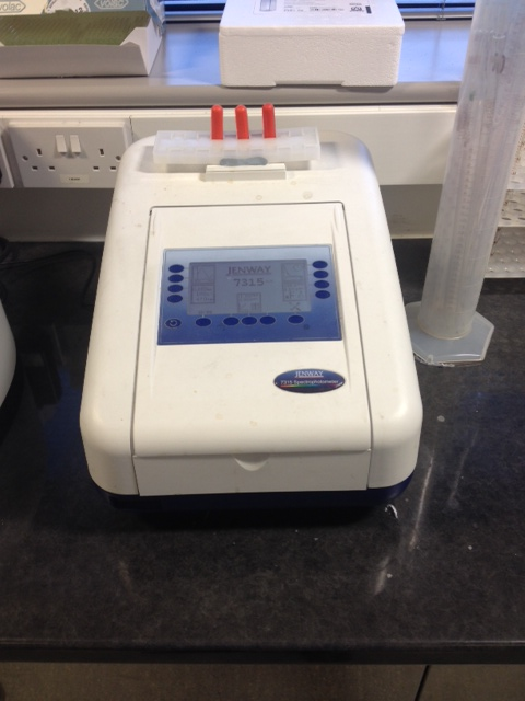Spectrophotometer used for measuring bitterness