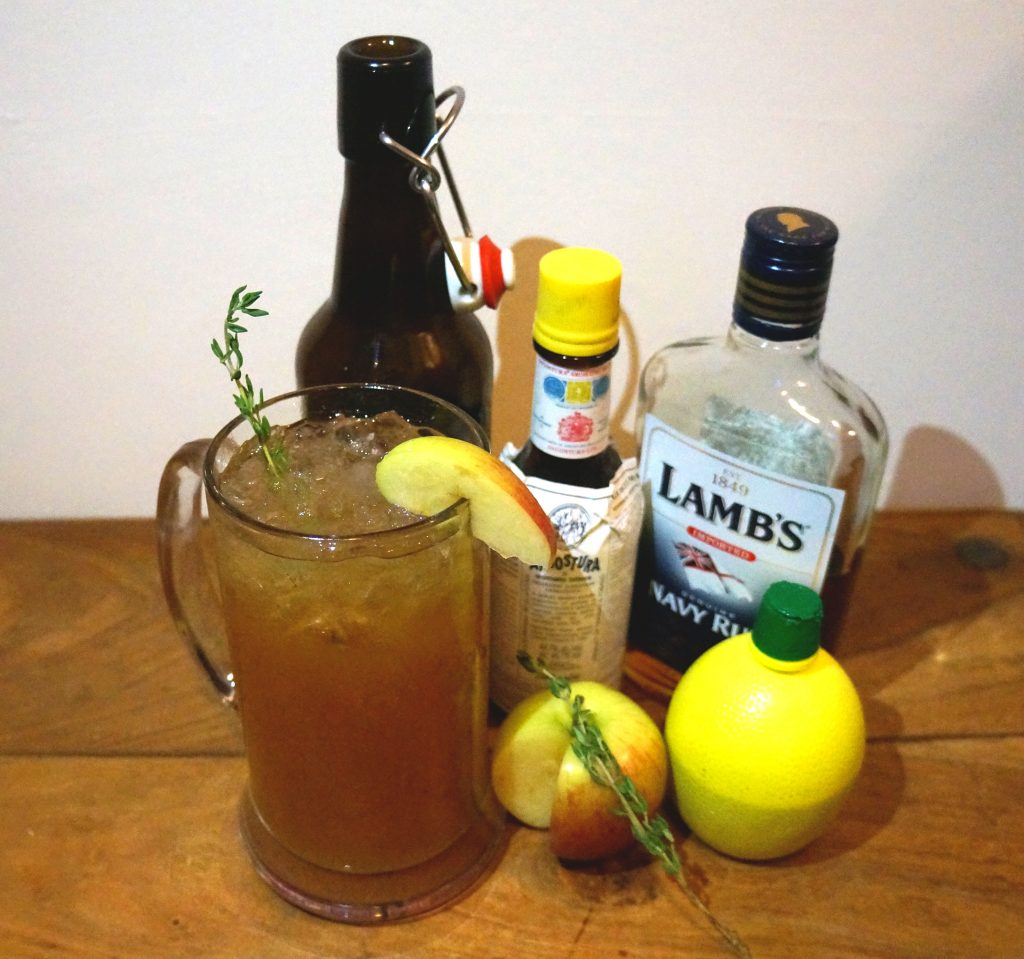 Cider Rum Punch Cocktail